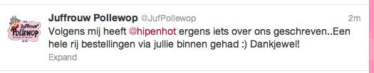 Twitterbericht Pollewop