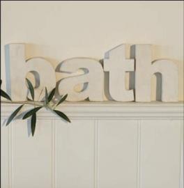 letters bath