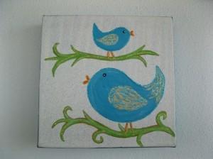 vogelschilderij