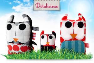 design stof handgemaakte uilen 300x201 Dotalicious