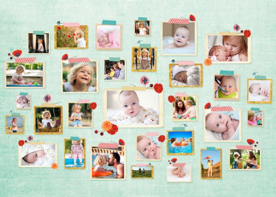 easy foto collage masking tape