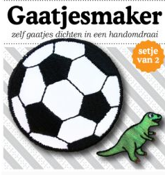 voetbal voor op knie