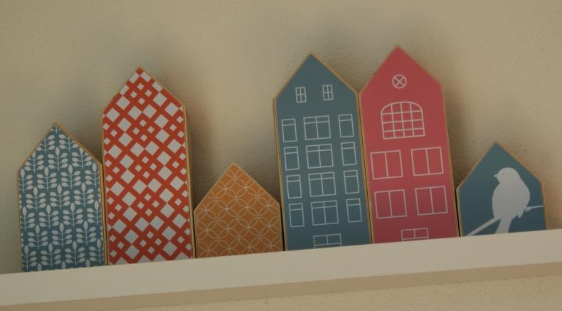 houtenprint huisjes