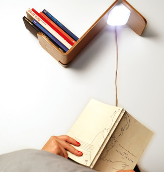 leeslampje boekenkast