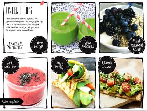 screenshot spinach App tip voor gezondheidsgoeroes