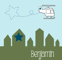 geboortekaartje helikopter