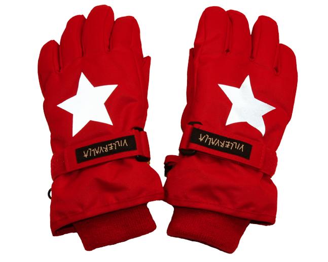 handschoenen rood Scandinavische sterren