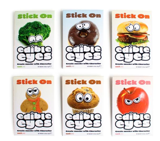 stick on eetbare oogjes Hoe laat je kinderen groente eten?
