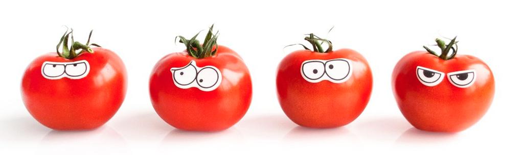 tomaten met eetbare oogjes
