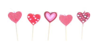 verschillende soorten hartjeskaarsen