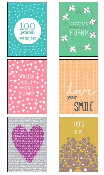 6 complimentenkaarten