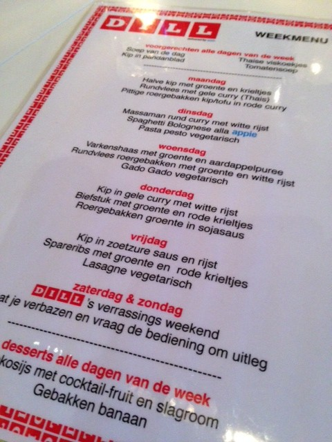 weekmenu e1393888659784 Restaurant Dill The Hague