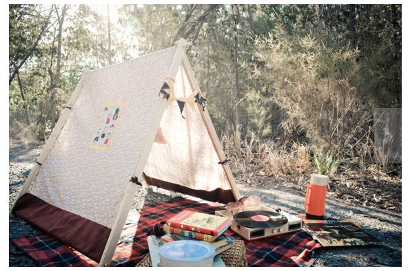 tent voor picknick in bos