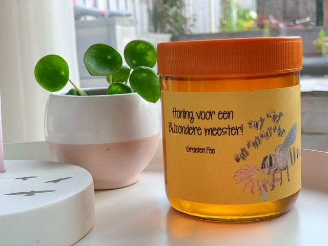 Bijzondere meester of juf potje honing