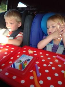 op vakantie in de auto