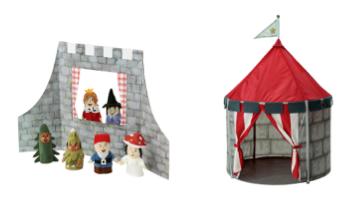 riddertent en mini speelkasteel Ridderkamer inspiratie!