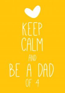 keep calm dad 212x300 Zwanger van de 4e!