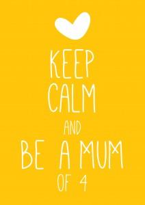 keep calm mum 212x300 Zwanger van de 4e!