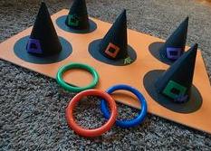 ringspel met heksenhoedjes