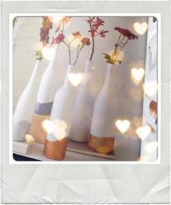 vazen verven voor kerst