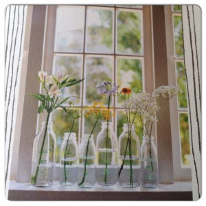 vazen voor het raam