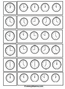 werkblad klokken