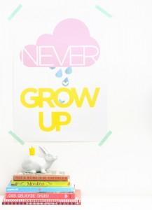 TIP poster never grow up