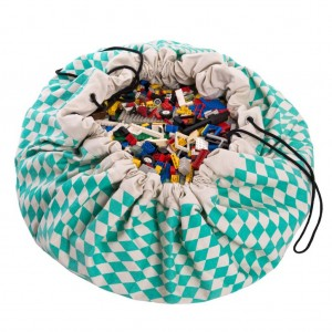 play-go-mintgroene-opbergzak-speelkleed-diamant-gr