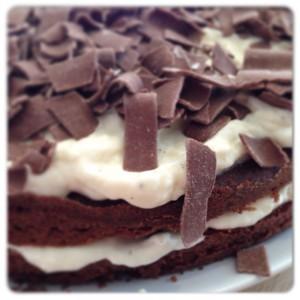chocolade vanille laagjes taart
