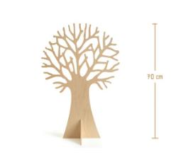 houten boom voor de seizoenstafel of de thematafel