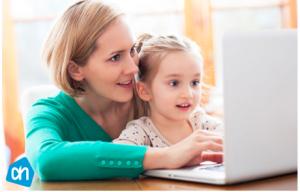 boodschappen online doen achter laptop