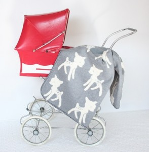 Wiegdeken Fabulous Goose Bambi Hertjes Grijs 1