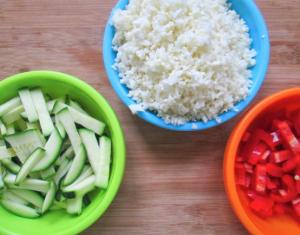 groenten gesneden