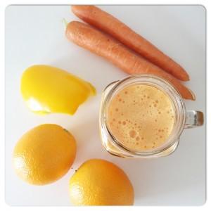 ingredienten oranje smoothie