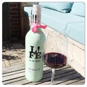 rode wijn terras