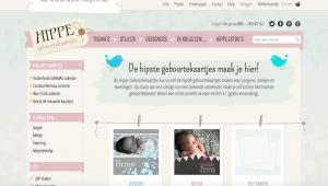 screendump hippe geboortekaartjes