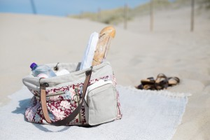 tas op het strand