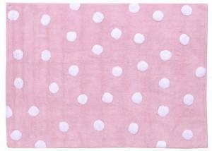 8 vloerkleed katoen dots-pink