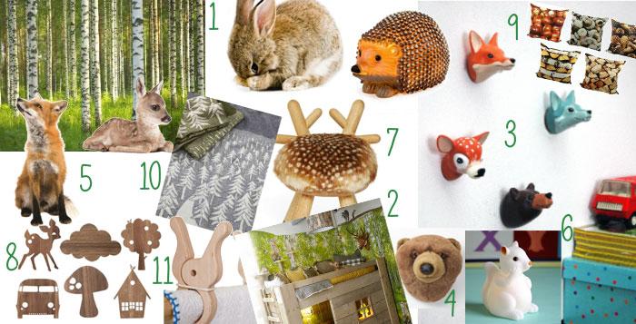 zo maak je een kinderkamer met bos thema - hip & hot - blogazine, Deco ideeën