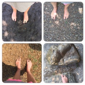 blote voetenpad zutendaal ondergrond
