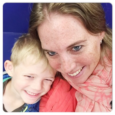 Yuren en mama in de trein