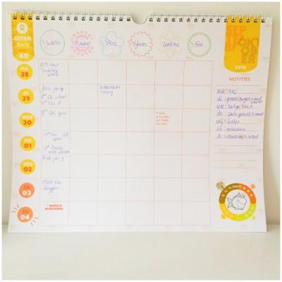 Weekplanner ingevuld