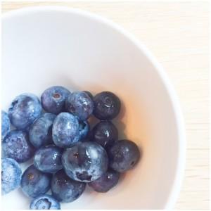 blauwe bessen snack