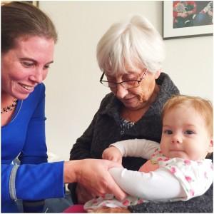 bij oma op bezoek okt 2015