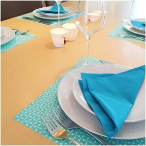 gedekte tafel blauw