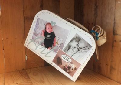 koffer geboortekaartje