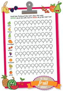 fruit leren eten printable plaatje