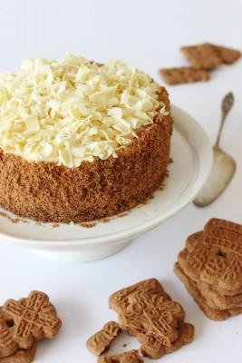 Witte chocoladetaart met speculaas- Zoet en verleidelijk