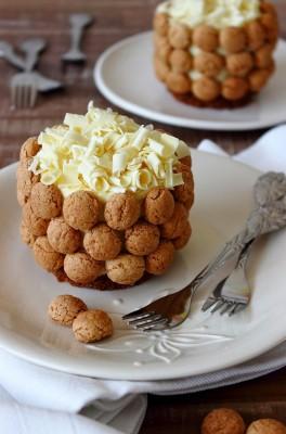 Witte chocoladetaartjes met pepernoten- Zoet en verleidelijk