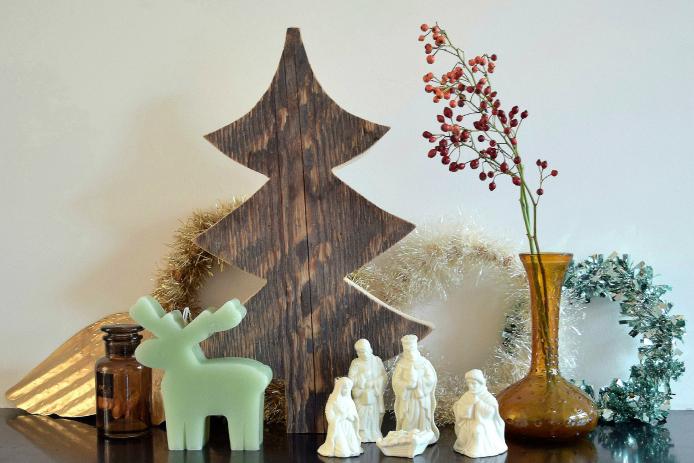 Woonkamer Schouw Petra: kerstsfeer op de schouw in de woonkamer
